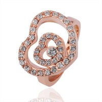 Кольцо many size 6 7 8 9 10 couple rings Fashion jewelry 18k rose gold plated Ring Factory price