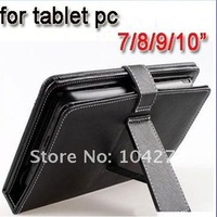 "Lether case with keyboard, for 7"" / 10"" tablet pc,wholesale"