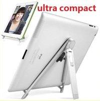 100pcs/lot Universal Portable Foldable Ultra Compact Aluminum Metal Desktop Holder Stand for iPad Tablet PC