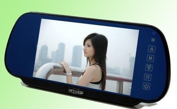 7 Inch LCD monitor Car Monitor for VCD/DVD/GPS/Car Reverse rearview camera with Touch screen and remote control