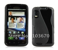 For Motorola Atrix 4G Case, S Line TPU Silicone Gel Skin Case Back Cover For Motorola Atrix 4G MB860, Free Shipping 20pcs/lot