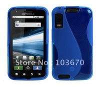 For Motorola Atrix 4G Case, S Line TPU Silicone Gel Skin Case Cover For Motorola Atrix 4G MB860, DHL Free Shipping 100pcs/lot