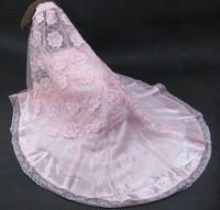 2012 new!wedding dress for large dog, pink bridal veil Dog lace skirt .Top quality! cat ,dog clothes.Pet products 10pcs/lot