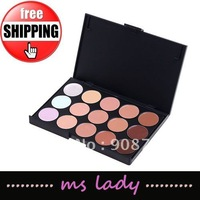 camouflage 15 colors makeup concealer / camouflage neutral palette free shipping HK airmail