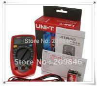 free shipping UNI-T UT33C Handheld Digital Multimeters DC AC Ammeter Voltmeter Ohm DMM,LCD display(digital meter),UT30160