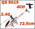 Direct Marketing!!2.4GHz rc helicopter 72.5cm 4CH Single-screw, Metal, Radio Control Helicopters Qs 9019 Free shipping 1pcs