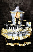 Anime VOCALOID Rin Daughter of Evil Magnificent version Cosplay Costume sweet dress freeshipping  Wholesale and retail