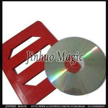 Free shipping Vanishing CD Magic Tricks  10pcs/lot  for magic porps wholesales