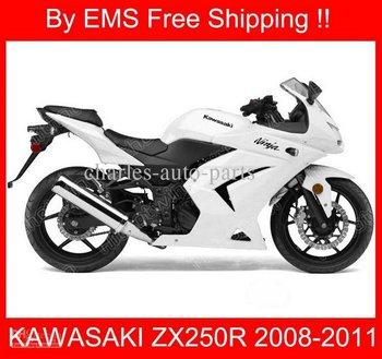 2873 Free Ship fairing for KAWASAKI Ninja ZX250R 08-14 ZX 250R 2008-2014 250 EX250 08 09 12 13 14 White