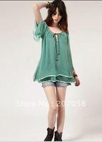 Женские блузки и Рубашки chiffonblouse MJ0412E