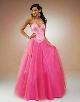 Free Shipping Hot-sale  Embroidery Strapless Taffeta and Tulle  Wedding Dress