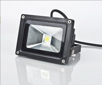 FREE shipping 2Year Waterproof 10W 9 LED floodlight Flood Light  black color AC 85-264V