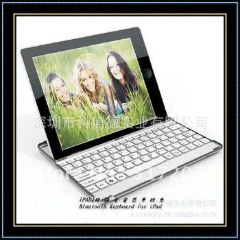 Hot !1 x Aluminum Case wireless bluetooth keyboard for ipad 2 2G mini free shipping