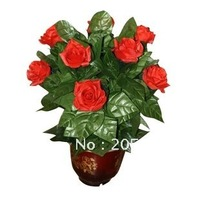 10 rose flowering/stage magic /magic props /48%discount EMS