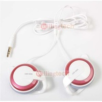 10PCS  pink Q50 Stereo Earphone Clip Hook for MP4 MP5 free shipping