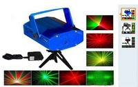 Free Shipping Mini Red & Green Moving Party Laser Stage Light laser DJ party light Twinkle 110-240V 50-60Hz With Tripod