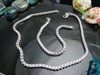 Hot selling jewelries fashion 925 silver jewelry set.925 jewelry wholesale C00095
