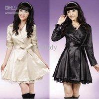 Korean version of the new Women's fashion coat lace decoration temperament 3colors