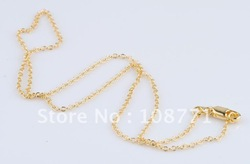 5pc 18 inch 1mm Top 18K yellow gold filled necklace.Rolo chain.recommended men chain ,fashion 18k gold filled men jewelry(China (Mainland))