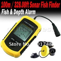 Sonar Fishfinder alarm New 100M Depth LCD Fish Finder