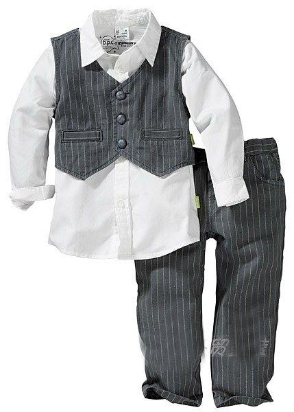 Spring 2pc short suit coat short pants baby clothes set kids clothes