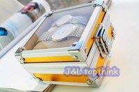 9.5cm*9.5cm*6cm creative Luxury aluminum wrist watch box  watch case gift box FREE SHIPPING