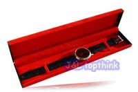 Free shipping,4pcs/lot, leather watch box, necklace watch, gift watch box 24.5*5.5*2.3cm