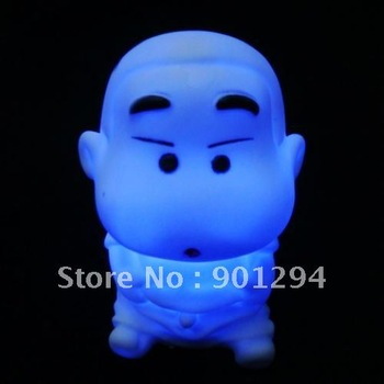 20pcs Wholesale Lovely Japan Cartoon Man 7 Color Change LED Lamp Candle Night Light BedRoom Home Party Christmas Man Decoration