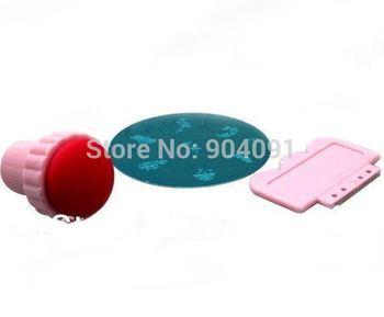 Free shipping 10SET/LOT Nail Art Stamping Kits+Stamp+Scraper Nail Printers Printing Set-Free Shipping Wholesale