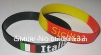 Flag Silicone Wrist band with customized logo design