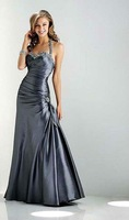 Free Shipping Hot-sale  Embroidery  Halter  Ruffle Satin Wedding Dress