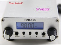 New Arrival! Free shipping 500mW 0.5W 70~98MHZ PLL fm transmitter for radio station kit (CZH-05B) (Black/Silver)