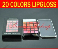 2012 wholesale new arrival cosmetics makeup 20 colors lipgloss set 22g/4 differnt style colors(8 pcs/lot) free shipping