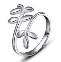 Wholesale Olive Leaf ring,925 sterling silver ring.Wedding jewelry ring.925 silver ring F00028 jewelries