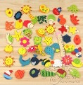 (300pcs/pack), Creative items/ Wooden fridge magnet sticker/ Fridge magnet/Refrigerator magnet,Free shipping
