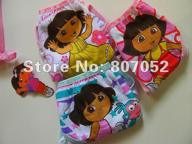 Wholesale Dora,girl underwear kids boxer clothes lingerie costume underwear children's shorts clothes pants 24pcs/lot CP12(China (Mainland))