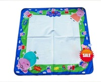 Hot!Free shipping  3pcs/lots 80*80cm Tomy Peppa Pig Aqua Doodle Drawing Mat&1 Magic Pen/Water Drawing  Mat(have 2 cm not write)
