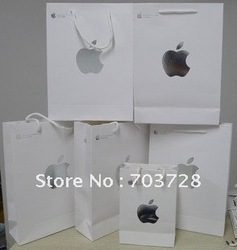 Free Shipping Paper bag for Apple ipad Packaging(China (Mainland))