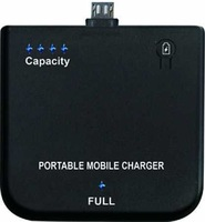 micro usb 1900mAh Protable Mobile Charger for  blackberry  charge for V8 jack-plug's moblie phone