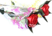 Flashing LED Rose For valentine's day Never Fade LED Roses Night Light Romantic Gift 55pcs mix order