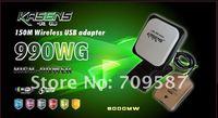 Free dhl/ups shipping!!2012 kasens 990WG new Launch 60DBI panel Antenna 150M wireless USB adapter Adaptador wifi usb 6000MW