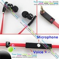 High-end in-ear earphone with mic control talk microphone deluxe version black/white free shipping