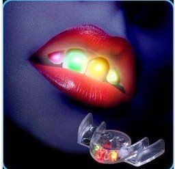 Newest novelty! led flashing mouth,mouth light,party toy,Helloween funny toy,freeshipping 20pcs