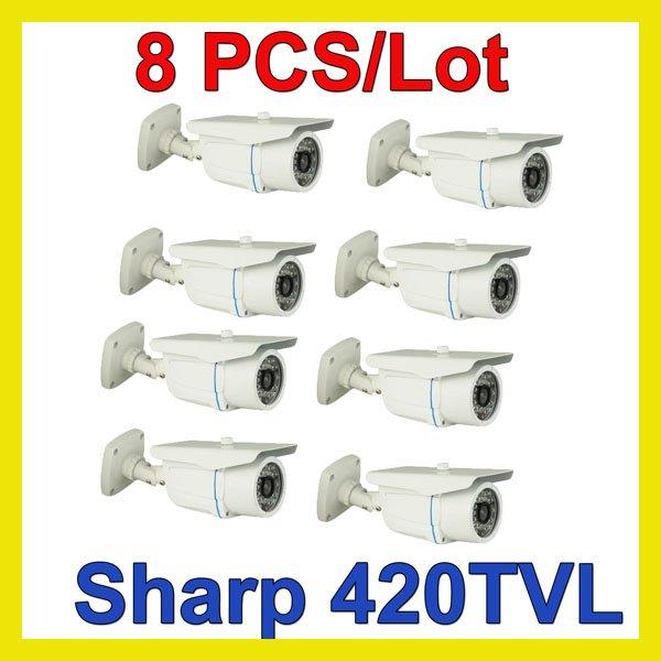 Wholesale (8) 24 IR Leds Sharp CCD Camera Waterproof 6mm Lens A13-WW(China (Mainland))