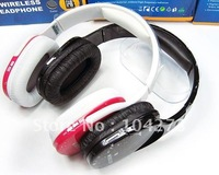 2012  New Fashion wireless Card Reader Headphone Sports MP3 Player FM Stereo Radio Headphone recharge