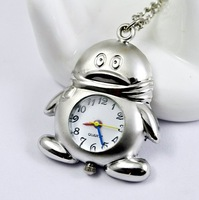 Freeshipping wholesale 20pcs/lot could mix different styles necklace cartoon pocket watch SL68 128 movement  DH522