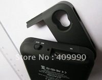 Hot 20pcs best 2000mAh Portable Backup External Battery Charger Case specially designed For iPhone 4 4G