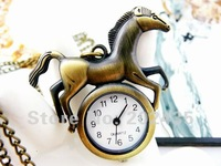 Freeshipping wholesale 20pcs/lot could mix different styles necklace cartoon pocket watch SL68 128 movement  DH550
