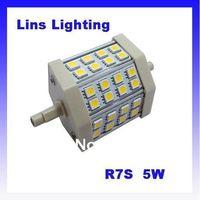 LED Flood Lights Light source R7S 5W 5050 SMD 3000K 4500K 6000K AC85-265V 20pcs/ lot Lins Lighting