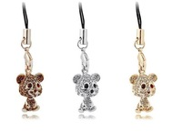 Retailing Min.order is $15 (mix order)  2661-2-46 Christmas gifts - mobile phone pendant - mobile phone chain - polar bear